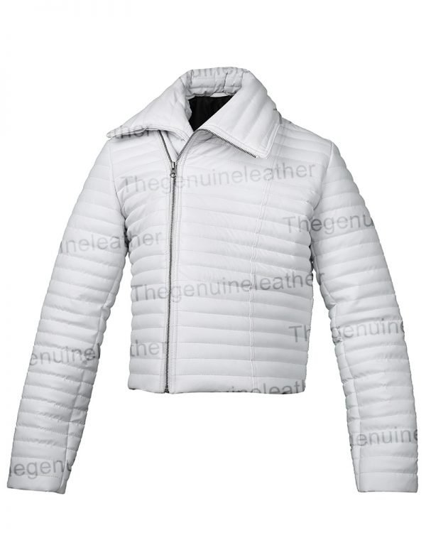 Bloodshot White Leather Jacket