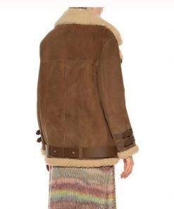 Hailey Baldwin Shearling Jacket