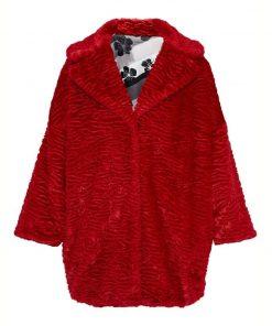 Katy Keene Lucy Hale Fur Red Coat