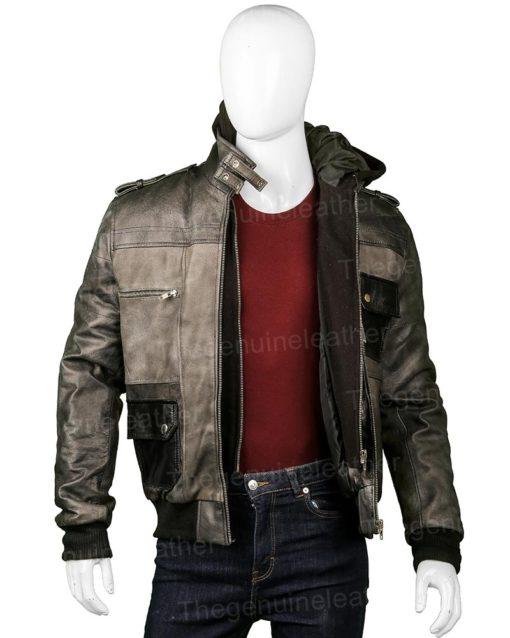 Mens Grey Hoodie Jacket
