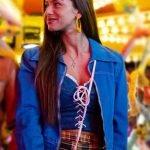 Mimi Keene Sex Education Ruby Blue Cotton Jacket | Ruby Blue Jacket