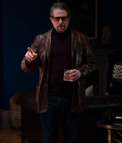 The Gentlemen Fletcher Hugh Grant Brown Leather Jacket