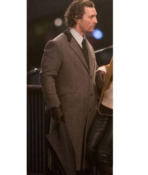 The Gentlemen Mickey Pearson Brown Trench Coat