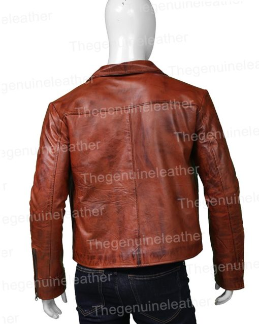 Aquaman Justice League Brown Leather Jacket