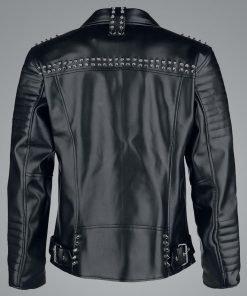Black Studded Leather Jacket
