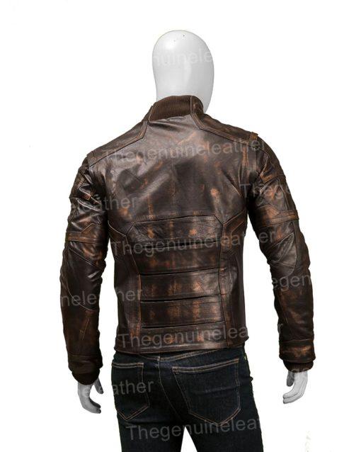 Captain America Bucky Barnes Leather Jacket