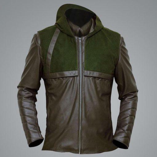 Green Arrow Stephen Amell Hooded Jacket