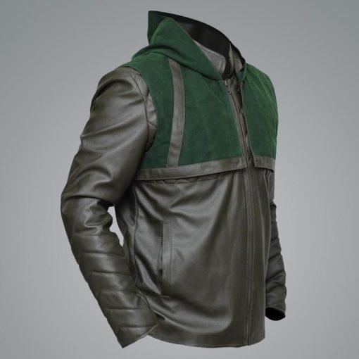 Green Arrow Stephen Amell Leather Jacket