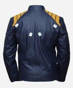 James Star Trek Captain Kirk Blue Leather Jacket