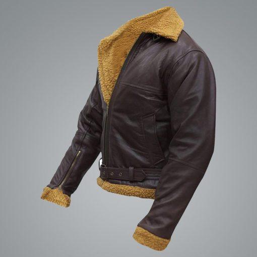Men B3 Flying Aviator Shearling Jacket
