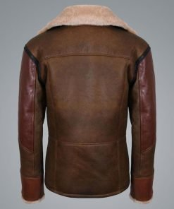 Mens RAF B3 Aviator Flying Bomber Leather Jacket