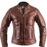 Mens Retro Cafe Racer Distressed Brown Jacket