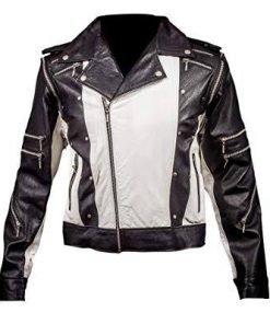 Michael Jackson Pepsi Black & White Leather Jacket