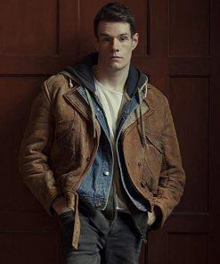 Sex Education Adam Groff Brown Leather Jacket