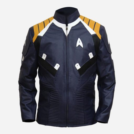 Star Trek Captain Kirk Blue Leather Jacket