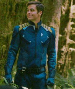 Star Trek Captain Kirk Blue Leather Jackets