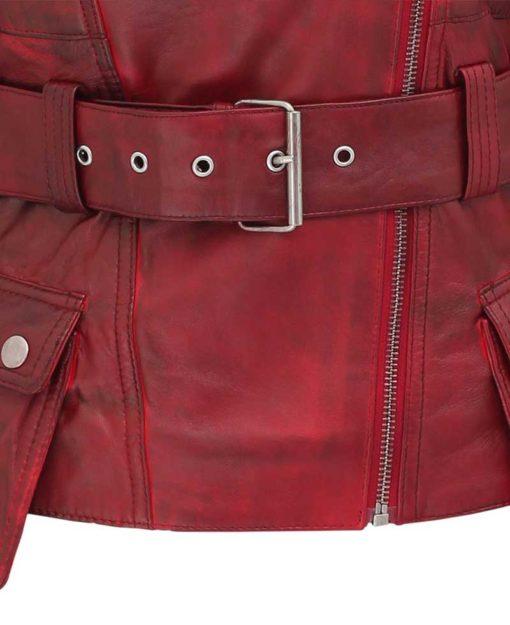 Victoria Burgundy Motorcycle Red Jacket