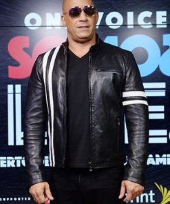Vin Diesel Bloodshot Ray Garrison Black Leather Jacket