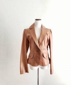 Women Wilsons Caramel Leather Coat