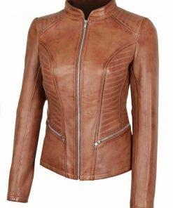 Womens Rachel Cognac Jacket