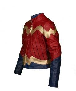 Wonder Woman Maroon Jacket