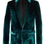 Black Mask Blue Velvet Blazer Coat