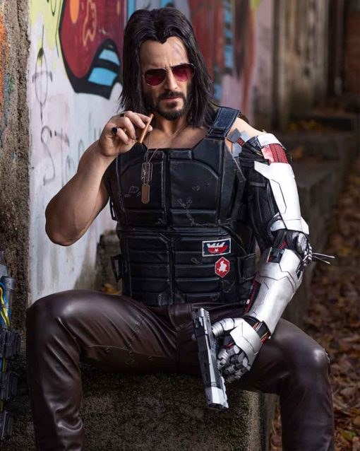 Johnny Silverhand Cyberpunk 2077 Leather Vest