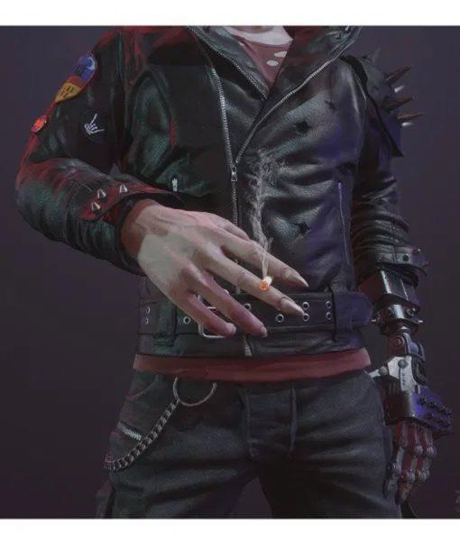 Cyberpunk 2077 Dracula Studded Leather Jacket