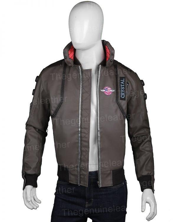 Cyberpunk 2077 Green Leather Jacket