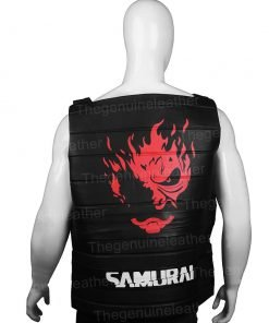 Cyberpunk 2077 Johnny Silverhand Black Leather Vest