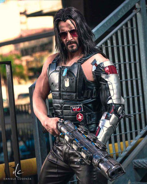 Johnny Silverhand Cyberpunk 2077 Black Vest