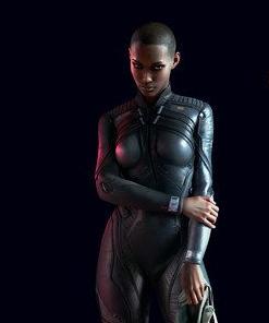 Cyberpunk 2077 T-Bug Black Leather Jacket