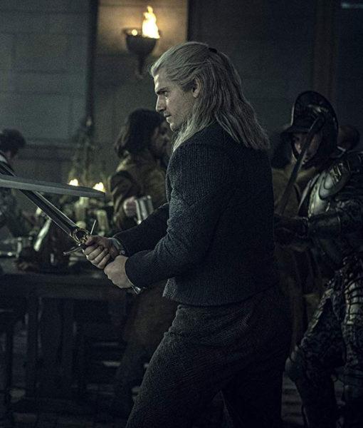 Geralt of Rivia The Witcher Black Jacket