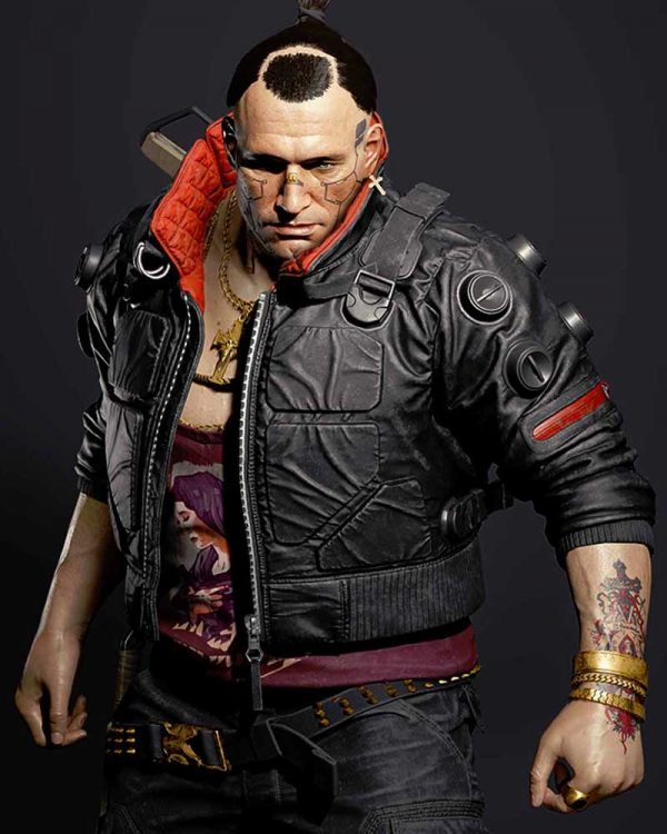Jackie Welles Cyberpunk 2077 Black Leather Jacket