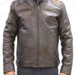 Men Brown Retro Leather Jacket