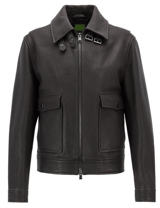 Mens Genuine Leather Biker Jacket