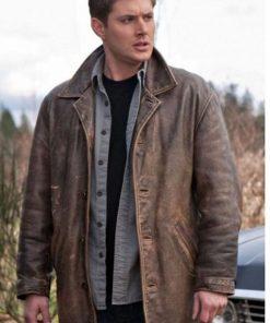 Supernatural Dean Winchester Brown Distressed Coat