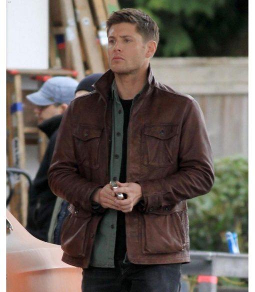 Supernatural Dean Winchester 7 Brown Leather Jacket