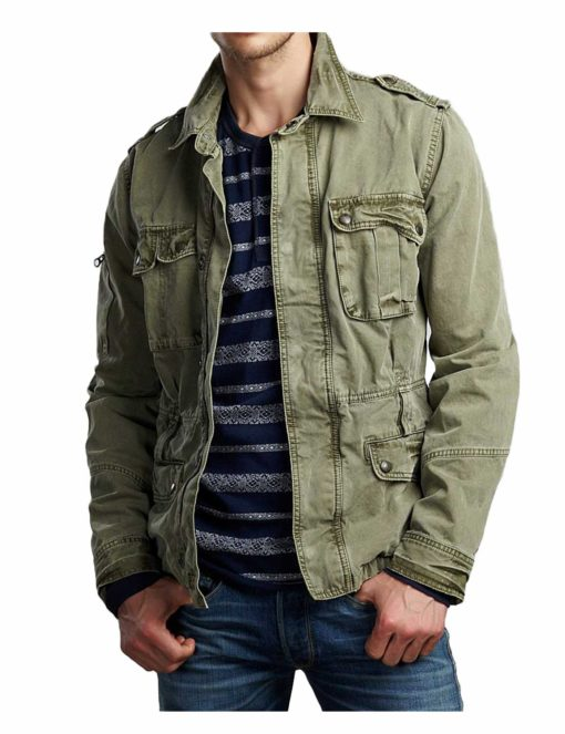 Supernatural Sam Winchester Green Jacket