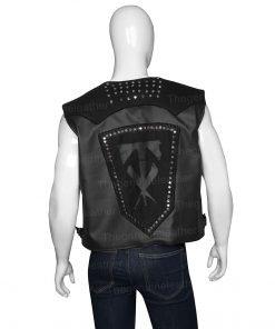 Wrestlemania 36 Undertaker Black Leather Vest