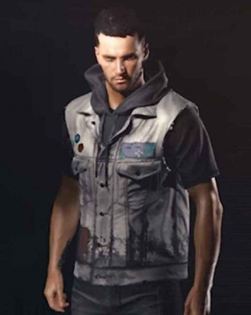 Cyberpunk 2077 Grey Leather Vest