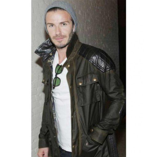 David Beckham Waxed Cotton Jacket