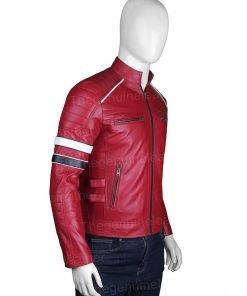Mens Cafe Racer Red Jacket
