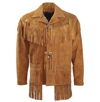 Mens Native American Tan Jacket