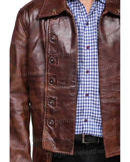 Outlander Jamie Frasers Brown Leather Coat