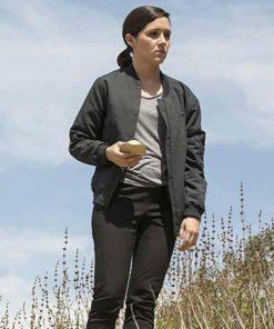 Shannon Woodward Westworld Black Cotton Jacket