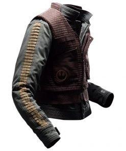 Star Wars Rogue One Jones Jyn Gray Cotton Jacket