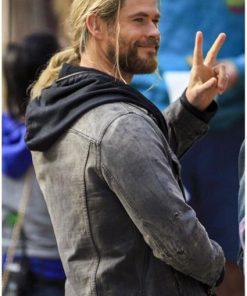 Thor Ragnarok Hemsworth Gray Jacket