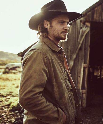 Yellowstone Luke Grimes Brown Leather Jacket