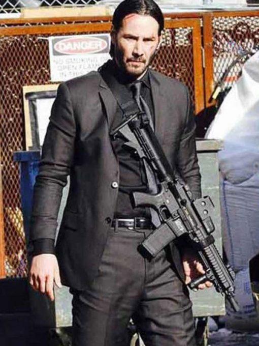John Wick 3 Keanu Reeves Black Suit